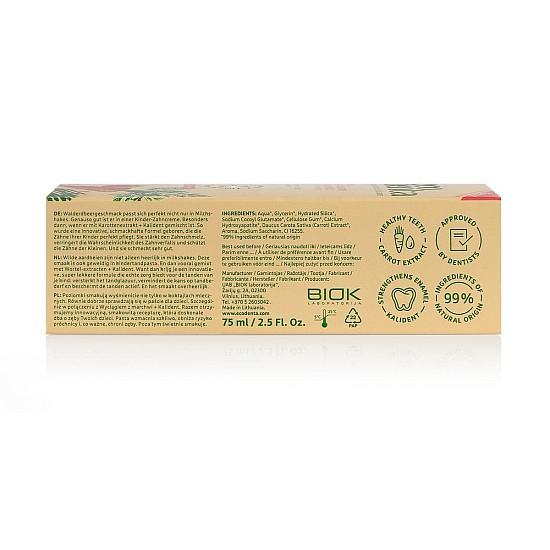 Dečija pasta za zube sa ukusom šumske jagode GREEN LINE STRAWBERRY FLAVOURED KIDS 75ml